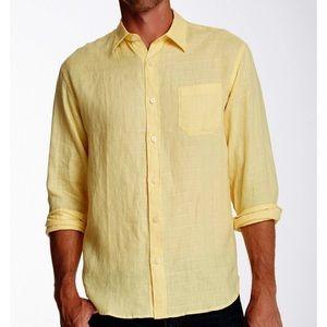 Tommy Bahama Costa Sera Linen Long Sleeve Shirt Lg